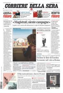 Guarda la versione ingrandita di Renzi, Csm: le prime pagine dei giornali