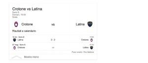 Crotone-Latina, streaming-diretta tv: dove vedere Serie B