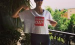 Elena Santarelli in forma mostra scollatura su Instagram