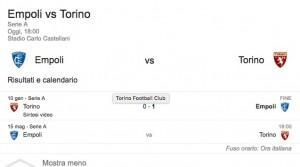 Empoli-Torino, streaming-diretta tv: dove vedere Serie A_1
