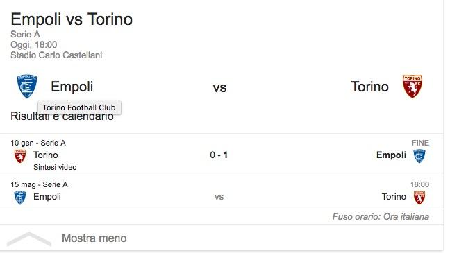 Empoli-Torino, streaming-diretta tv: dove vedere Serie A_2