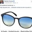 Fabrizio Corona pubblicizza occhiali da sole a 39 euro ma…