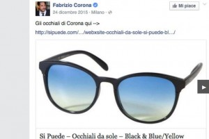 Fabrizio Corona pubblicizza occhiali da sole a 39 euro ma...