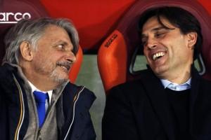Guarda la versione ingrandita di Sampdoria: Vincenzo Montella resta. Niente nazionale (foto Ansa)