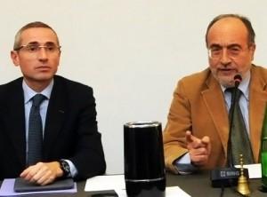 Guarda la versione ingrandita di Fnsi, il Consiglio nazionale approva la relazione Lorusso (Da sinistra, Raffaele Lorusso e Giuseppe Giulietti)