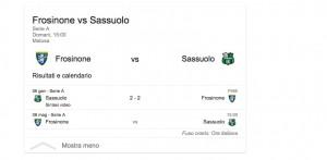Frosinone-Sassuolo, streaming-diretta tv: dove vedere Serie A