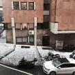 Grandinata a Genova, strade imbiancate dopo temporale FOTO