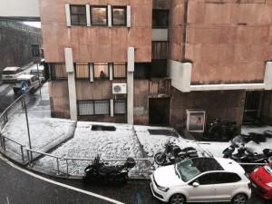 Grandinata a Genova, strade imbiancate dopo temporale FOTO6