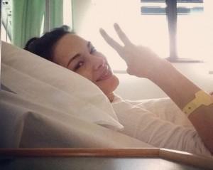 Giorgia Surina operata per un tumore benigno FOTO