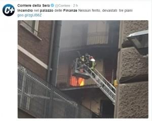 Roma, incendio palazzo Finanze: sgomberato, no feriti