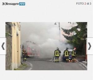 Guarda la versione ingrandita di Rocca di Papa, auto va a fuoco: ragazzo scappa e si salva