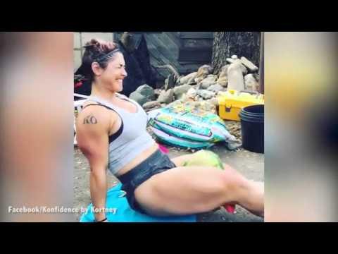 YOUTUBE Kortney Olson, donna spacca cocomeri con cosce6