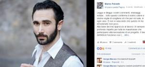 Marco Palvetti, Salvatore Conte di Gomorra, gaffe su Fb...