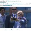 Sampdoria-Genoa, Massimo Ferrero gioca con drone FOTO