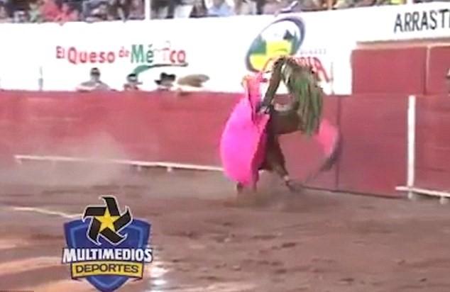 Toro incorna matador e lo lancia in aria4