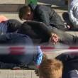 Maxi-rissa tra immigrati al cimitero Mosca5