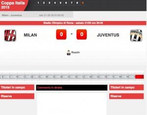 Milan-Juventus: diretta live finale Coppa Italia su Blitz