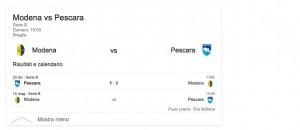 Modena-Pescara, streaming-diretta tv: dove vedere Serie b