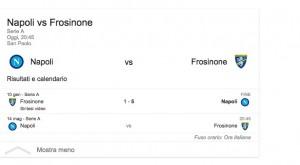Napoli-Frosinone, streaming-diretta tv: dove vedere Serie A_1
