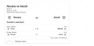 Novara-Ascoli, streaming-diretta tv: dove vedere Serie B