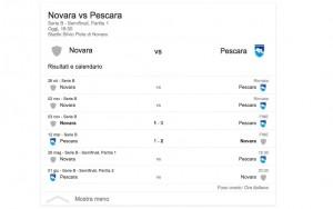 Novara-Pescara, streaming-diretta tv: dove vedere Serie B