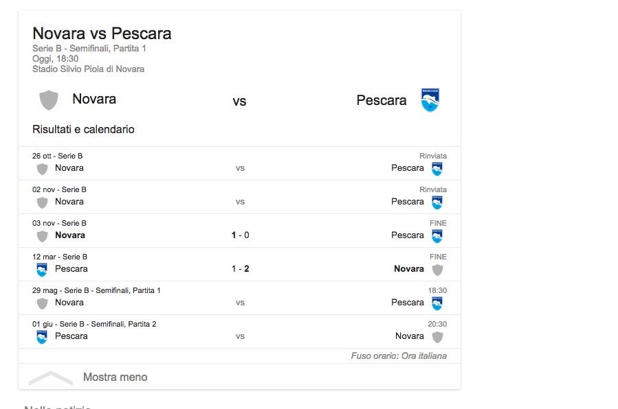 Novara-Pescara, streaming-diretta tv: dove vedere Serie B_7