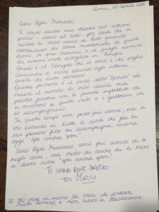 Marco Pannella, la lettera a Papa Francesco. Testo integrale