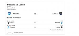 Pescara-Latina, streaming-diretta tv: dove vedere Serie B