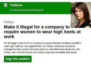 Londra: non mette i tacchi, licenziata. Lei reagisce così