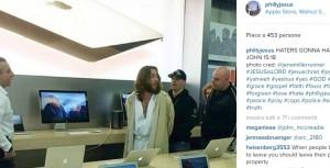 Guarda la versione ingrandita di Philly Jesus, arrestato a Apple Store per la croce...(foto da Instagram)