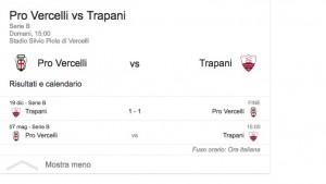 Pro Vercelli-Trapani, streaming-diretta tv: dove vedere Serie B