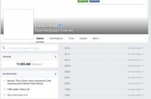 Radiohead spariti da web: sito, Facebook e Twitter vuoti