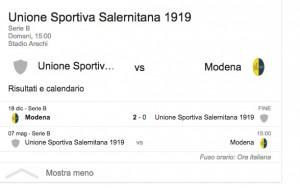 Salernitana-Modena, streaming-diretta tv: dove vedere Serie B