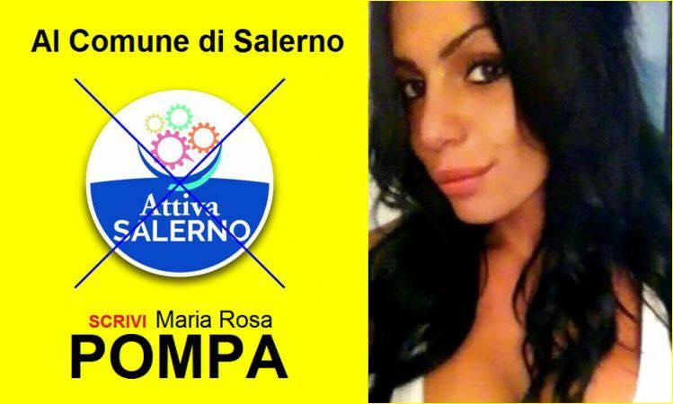 """Salerno, """"Vota Pompa"""": la candidata e quel cognome che..."""