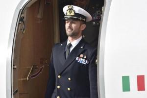 Salvatore Girone rientra in Italia (foto Ansa)