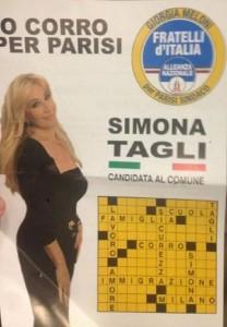 """Simona Tagli candidata: """"Stranieri preghino il nostro Dio"""""""