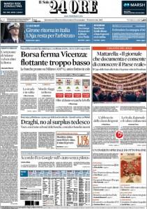 Guarda la versione ingrandita di Marò, Referendum, Unioni civili: prime pagine dei giornali