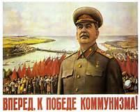 Un cartellone di Stalin