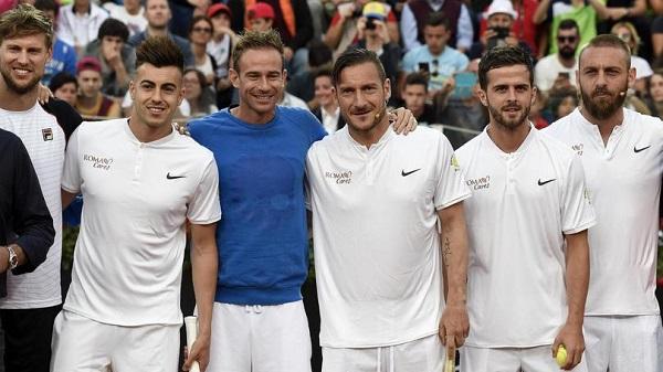 Internazionali Tennis, giocatori della Roma si sfidano FOTO