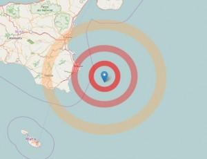 Terremoto Siracusa: scossa magnitudo 4 nel mar Ionio