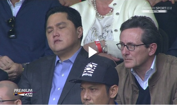 Inter-Empoli: Erick Thohir si addormenta allo stadio