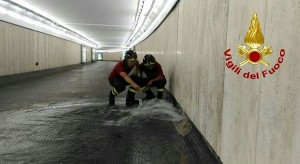 Roma, metro Flaminio chiusa per allagamento