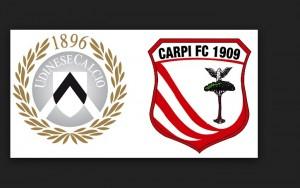 Udinese-Carpi, formazioni ufficiali e video gol