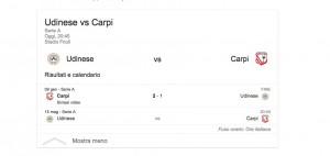 Udinese-Carpi, streaming-diretta tv: dove vedere Serie A_2