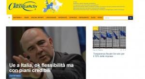 www.classeuractiv.it: da questa settimana è online il sito specializzato sulle news e sulle informazioni relative alle politiche dell'Unione europea, dalla Commissione Ue a tutte le principali istituzioni comunitarie