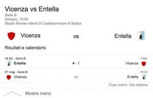 Vicenza-Entella, streaming-diretta tv: dove vedere Serie B
