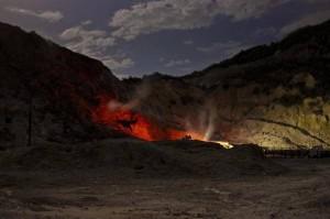 "Solfatara, geologi: ""La caldera risalita di 15 centimetri"" (foto Ansa)"