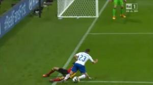 Belgio-Italia, Giaccherini steso: era rigore FOTO