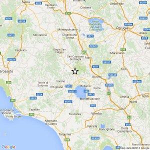 Terremoto Umbria, scossa 3.2 in provincia di Orvieto