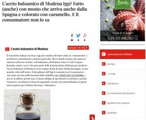 Aceto balsamico con mosto spagnolo, pasta italiana con grano ucraino